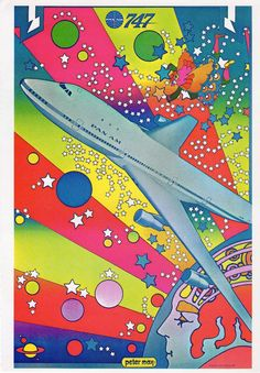Vintage Peter Max Graphic Art Poster