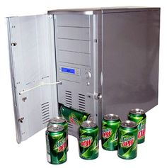 mini fridge from old computer - put it right next to the Macquarium.