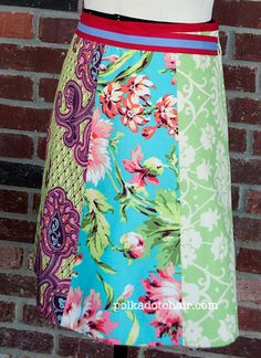 sew-a-skirt-tutorial ~ this is for a wrap around fat quarter skirt. Simple! I've always loved the wrap arounds!