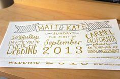 Custom Handlettered Letterpress Wedding by cottonflowerpress, $6.00