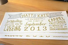 Custom Handlettered Letterpress Wedding by cottonflowerpress, $6.00
