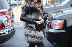 Leather fur