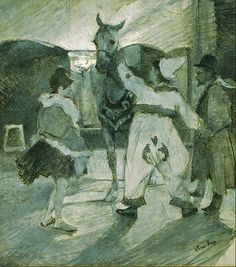 In The Wings At Circus - Henri De Toulouse-Llautrec