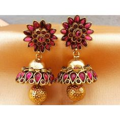 Online Shopping for south stone earrings | Earrings | Unique Indian Products by urshi collections - MURSH33119039070