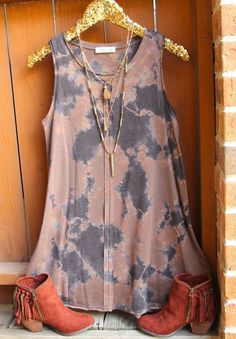 I neeed this Tie Dye Tank Dress - Southern Jewlz Online Store Boho Fashion, Fashion Outfits, Womens Fashion, Fashion Fashion, Looks Style, Style Me, Spring Summer Fashion, Spring Outfits, Look Hippie Chic