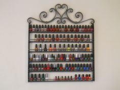 Nail Polish Rack Wrought Iron