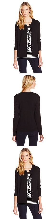 Sweaters 50993: Calvin Klein Women S Cardigan Black S Womens Cardigan Sweaters, New -> BUY IT NOW ONLY: $41.23 on eBay!