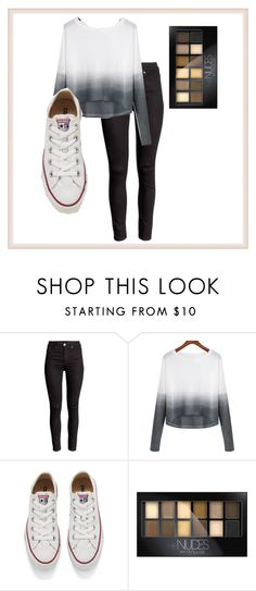 """""""Everyday look...   carlin6702 credit"""" by watermelon-lane on Polyvore featuring Converse, Maybelline, women's clothing, women's fashion, women, female, woman, misses and juniors"""