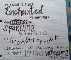 Enchanted. <3