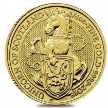 2018 Great Britain 1/4 oz Gold Queen's Beast (Unicorn of Scotland) Coin .9999 Fine BU