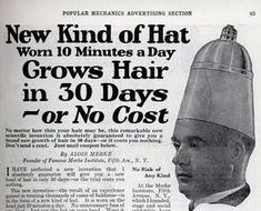 So all I have to do is wear this giant tit on my head for 30 days and I'll have hair?  SIGN ME UP!