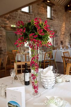 Gorgeous table centre arrangements by The Topiary Tree Florist