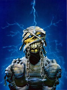 Iron Maiden World Slavery Tour Iron Maiden Cover, Iron Maiden Band, Eddie Iron Maiden, Heavy Metal Art, Heavy Metal Bands, Music Artwork, Metal Artwork, Rock Posters, Band Posters