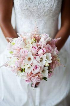 Różowy bukiet śluby