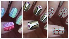 Easy Nail Art For Beginners!!! #10...I like the first nail design!