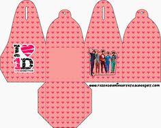 One Direction: Cajas para Imprimir Gratis.