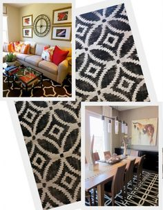 Black and white rugs are statement makers! They're graphic, sophisticated… Bedroom Colors, Home Decor Bedroom, Room Decor, Bedroom Ideas, Colorful Chairs, Cozy Living Rooms, Find Furniture, Unique Home Decor, White Rugs