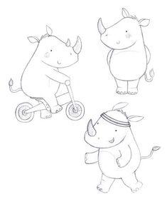 Discover recipes, home ideas, style inspiration and other ideas to try. Illustration Agency, Cute Illustration, Character Illustration, Illustrations, Rhino Spiderman, Rhino Tattoo, Rhino Logo, Sarah Ward, Rhino Beetle