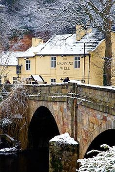 Winter at the Inn The Dropping Well Inn Yorkshire England