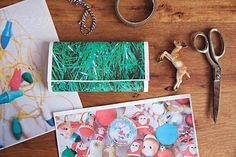 DIY / create your own Christmas gift wrap from photographic images of vintage christmas decorations and lights by nataliejeffcott   Stocksy United