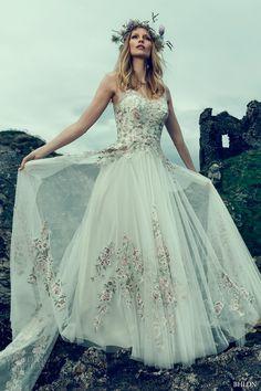 bhldn fall 2016 bridal sleeveless illusion v neck sweetheart neckline heavily…
