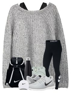 """OOTD : We got third in our tournament . . ."" by meinersk45195 ❤ liked on Polyvore featuring NIKE and Fujifilm"