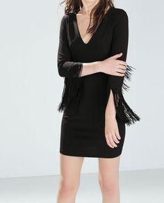 Image 2 of FRINGED TUBE DRESS from Zara