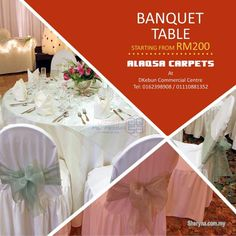 Alaqsa Carpets Banquet Tables at Wholesale Price Klang - Tangtu Malaysia-Singapore Free Classified Ads Office Carpet, Rectangle Dining Table, Banquet Tables, Free Classified Ads, Table And Chairs, Home Furniture, Table Decorations, Stuff To Buy, Carpets