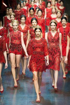 Dolce e Gabbana finale. Milan Fashion Week AW 2013