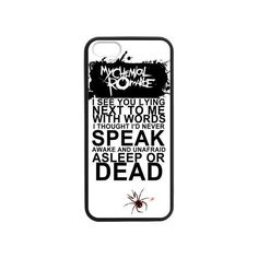 Fashion MCR My Chemical Romance Hard Snap-On Rubber Coated Cover Case... ($5.97) ❤ liked on Polyvore featuring accessories, tech accessories, phone cases, phones, mcr and my chemical romance