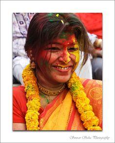 Festival of Holi in Kolkata, India