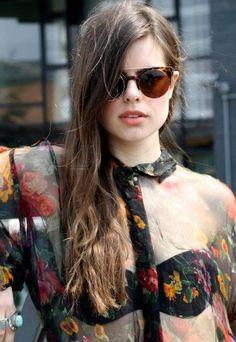 sheer top and bra