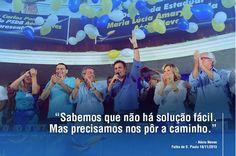 Longa estrada para uma mudança, mas vamos conseguir melhorar o país. #CoragemParaAvancar #AecioNeves #MudandoOBrasil