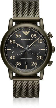 c2f77d7d7a7b Emporio Armani Men s Sport Watch Black Leather Watch