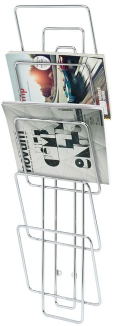 Wires Wall Mounted Magazine Rack @ puremodern.com