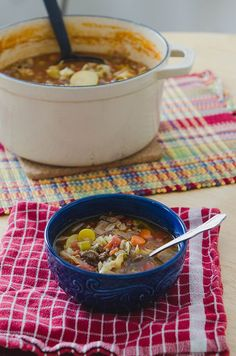 Rustic Beef, Tomato & Cabbage Stew- onion, garlic, ground beef, oregano, celery, carrots, potatoes, diced tomatoes, broth, cabbage