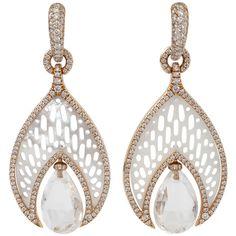 Inbar Quartz Drop Mother Of Pearl Earrings ($14,430) ❤ liked on Polyvore featuring jewelry, earrings, 18k earrings, quartz jewelry, 18 karat gold jewelry, mother of pearl earrings and 18k jewelry