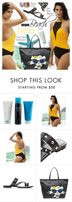 """""""Beach time:One-Piece Swimwear"""" by pokadoll ❤ liked on Polyvore featuring Karl Lagerfeld, polyvoreeditorial, polyvorefashion, polyvoreset and zaful"""