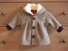 Wollwalk Kinderjacke mit flauschigem Teddystoff / cozy childrens jacket made by KleinesMuckelchen via DaWanda.com