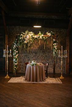 Bride + groom table   Image by Love Hunters