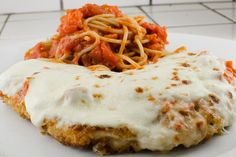 Broiled Chicken Parm - By broiling the chicken parm you keep the crispy, crunchy and avoid the parm sog.