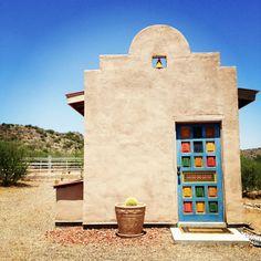 Southwestern painted door