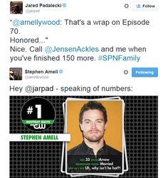 Ha! Jared and Stephen on Twitter XD