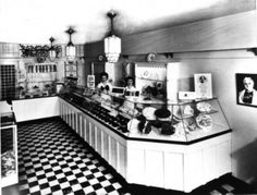 Historic photo of a See's Candies store. The San Francisco based company was founded in 1921. (See\'