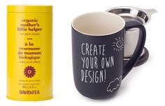 Decorate a unique and fully-customized mug for your mom and fill it with @DAVIDsTEA Mothers Little Helper Tea. Perfect for #MothersDay #gifts. #FairMoms