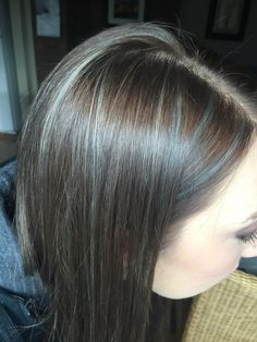 Her Black And Grey Hair Cool Transitioning Streaks Hair Fifty