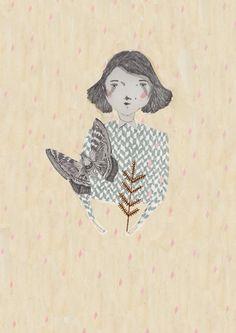 Moth girl check out my prints here!https://www.etsy.com/shop/Amyislaillustration?ref=si_shop
