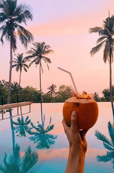 Enjoy a cool drink and watch the sunset! Your next tropical vacation deserves a new wardrobe and lots of palm trees Tropical Vibes, Tropical Paradise, Tropical Beaches, Summer Paradise, Paradise Beaches, Paradise Travel, Palm Tree Sunset, Palm Trees, Sunset Sky
