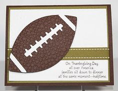 Thanksgiving football card - so cute!