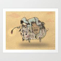 The Animal Doctor Art Print by Albert F. Montoya - $21.00